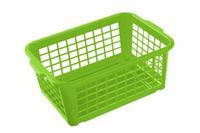 Košík stohovateľný, plast, svetlo zelený