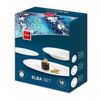 """Sada jedálenských tanierov """"Elba"""", 18 ks, opálové sklo"""