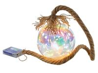 Vianočná LED dekorácia 15cm dúhová guľa