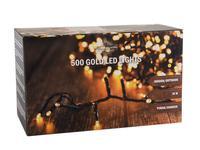 Vianočná svetelná reťaz 500 LED IP44 10m s časovačom