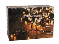 Vianočná svetelná reťaz 700 LED IP44 14m s časovačom