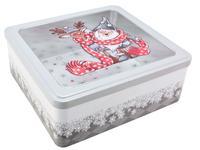 Dóza na vianočné pečivo 23x22x9cm Santa
