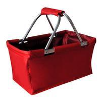 Nákupný košík skladací 29 l, červený