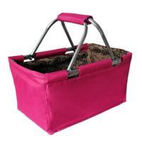 Skladací nákupný košík TORO 29l ružový