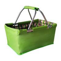 Nákupný košík skladací 29 l, zelený