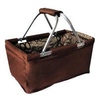 Skladací nákupný košík TORO 29l hnedý