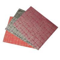 """Prestieranie tkané """"štvorec"""" 45 x 30 cm, čierna / červená"""