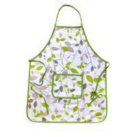 Zástera kuchynská, motív zelené kvety