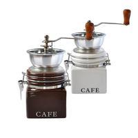 Mlynček na kávu, porcelán / nerez, nápis Cafe
