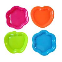 Tanier, 4 ks, tvar jablko, plast