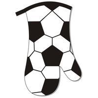 Kuchynská chňapka, rukavica, dekor futbal