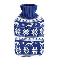 Fľaša zahrievacia 2 l, nórsky vzor - červená, modrá