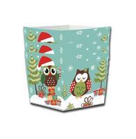 Košíčky na cukrovinky, papier, 4 ks, vianočná sova