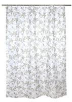 Sprchový záves, polyester, 180 x 180 cm, motív kvety
