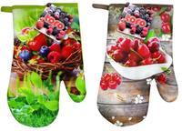 Kuchynská chňapka rukavica, dekor ovocie, assort