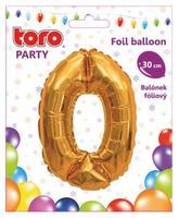 """Balónik číslica """"0"""", 30 cm, assort"""