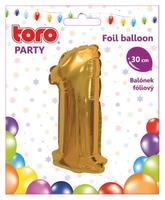 """Balónik číslica """"1"""", 30 cm, assort"""