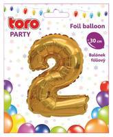"""Balónik číslica """"2"""", 30 cm, assort"""