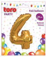 """Balónik číslica """"4"""", 30 cm, assort"""