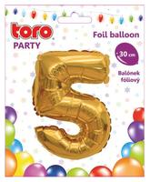 """Balónik číslica """"5"""", 30 cm, assort"""