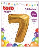 """Balónik číslica """"7"""", 30 cm, assort"""