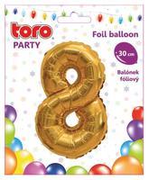 """Balónik číslica """"8"""", 30 cm, assort"""