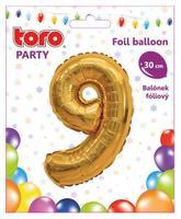 """Balónik číslica """"9"""", 30 cm, assort"""