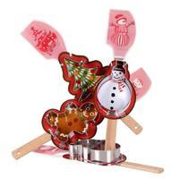 Stierka a vykrajovač, assort vianočných motívov