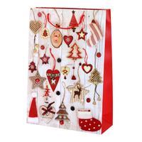 Taška darčeková vianočná, veľká, papier, assort