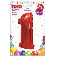 """Balónik XL, číslica """"1"""", 60 cm, matne červený"""