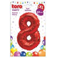 """Balónik XL, číslica """"8"""", 60 cm, matne červený"""