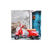 """Obraz 20 x 20 cm, potlač """"motorka"""", plátno"""