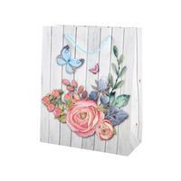 Darčeková taška TORO 32x26cm drevo+kvety