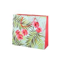 Darčeková taška TORO 25x28cm listy+kvety