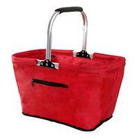 Skladací nákupný košík TORO červený