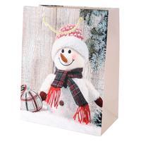 Papierová vianočná dárčeková taška TORO 55x40x15cm assort