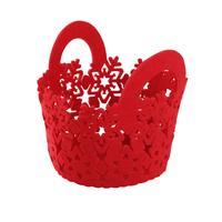 Plstený košík TORO 15cm červený