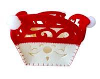 Plstený košík TORO 12cm červeno biely