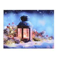 Svietiaci 1LED obraz 30x40cm plátno, lucerna