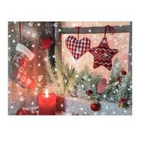 Svietiaci 1LED obraz 30x40cm plátno, vianoce