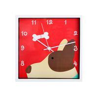 Nástenné hodiny TORO 24x24cm pes, králík