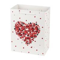 Papierová dárčeková taška TORO 23x18x10cm srdiečka assort