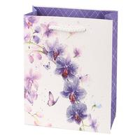 Papierová dárčeková taška TORO 44x31x12cm kvety assort