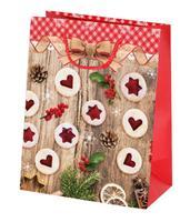 Papierová vianočná dárčeková taška TORO 23x18x10cm linecké