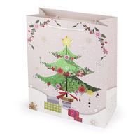 Papierová vianočná dárčeková taška TORO 32x26x12cm assort
