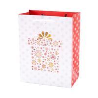 Papierová vianočná dárčeková taška TORO 15x14,5x6cm assort
