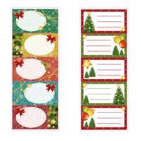 Vianočné menovky na darčeky TORO 5 samolepiek MIX