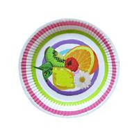 Papierový party tanier 20cm TORO 6ks Olala letný mix