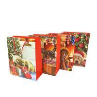 Papierová dárčeková taška TORO 32x26x12cm vianočný MIX