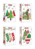 Papierová dárčeková taška TORO 15x14x6cm vianočný MIX